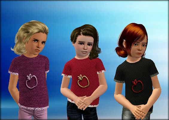 Sims 3 tee, t-shirt, clothes, girl