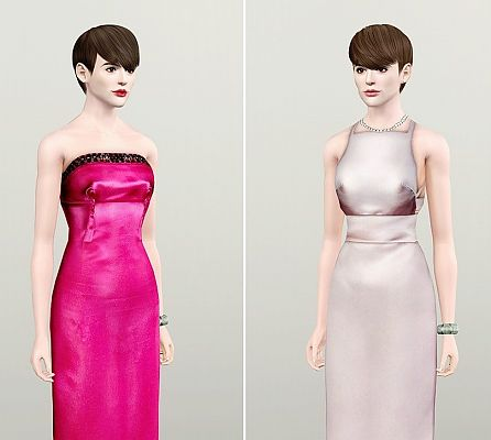 Sims 3 dress, fashion, clothing, casual, female, formal, gown