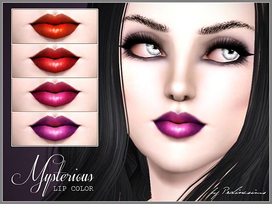 Sims 3 gloss, lips, lipgloss, lipstick,  female, makeup