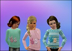Sims 3 sweater, top, females