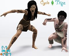 Sims 3 tattoo, tattoos, tribal