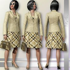 Sims 3 elder, fashion, clothing, set