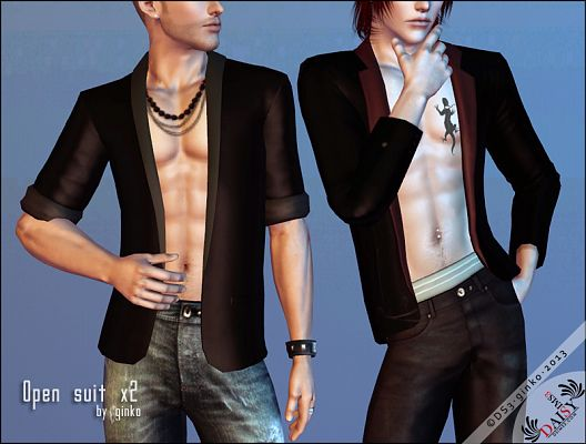 Sims 3 top, outfit, clothing, casual, male, suit