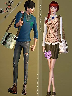 Sims 3 bag, accessories, female, male