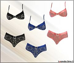 Sims 3 lingerie, lace, bra, set, pants