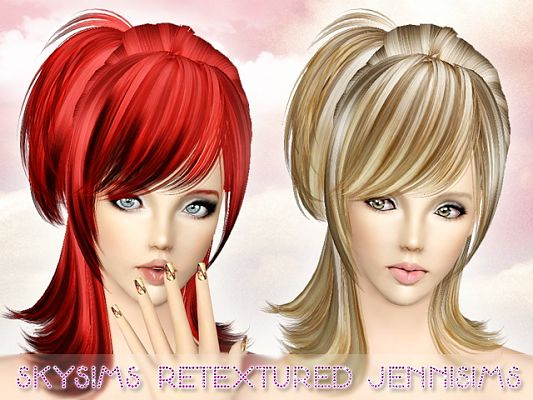 Sims 3 hair, hairstyle, female, retexture, sims3, sims 3