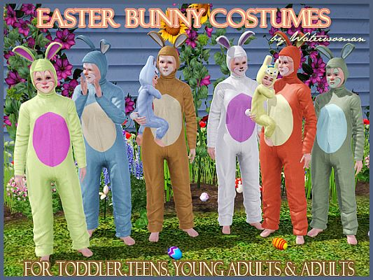 Sims 3 jumpsuit, costume, rabbit