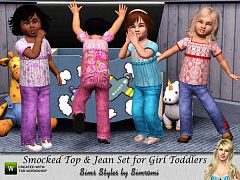 Sims 3 top, jeans, toddler, clothes