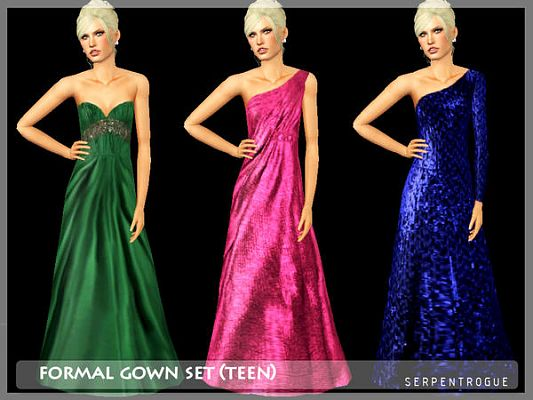 Sims 3 gown, teen, formal, dress