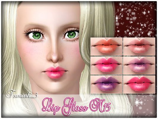 Sims 3 lips, lipstick, lipgloss, makeup, female