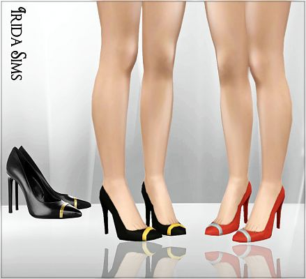 Sims 3 shoes, high heels, designer, fashion, female