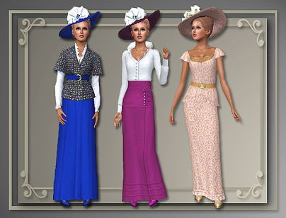 Sims 3 dress, historical, edwardian, victorian