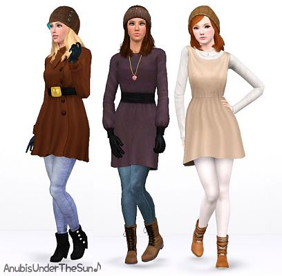 Sims 3 boots, outwear