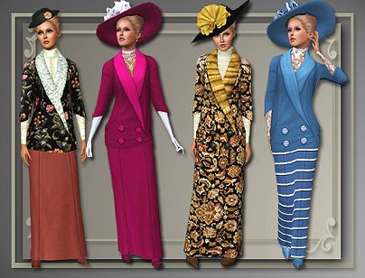 Sims 3 cloth, clothing, outfit, fashion, casual, set, historical