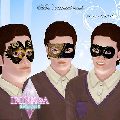 Sims 3 mask, carnival, accessory
