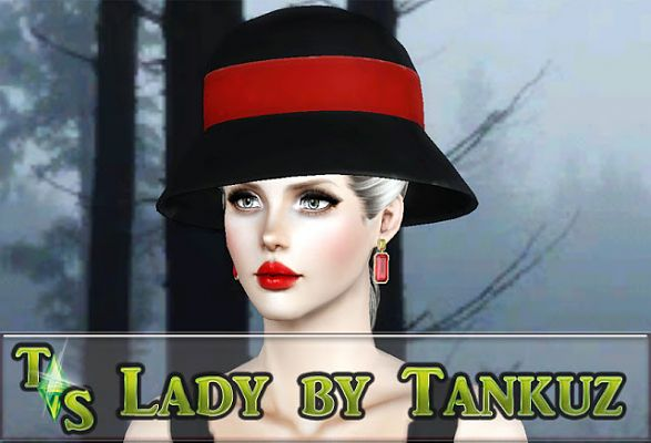 Sims 3 hat, accessory, lady