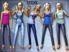 Sims 3 top, bottom, pants, fashion, clothes