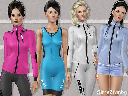 Sims 3 outfit, sport, athletic, clothes