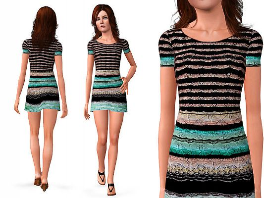 Sims 3 dress, outfit, clothing, fashion, female
