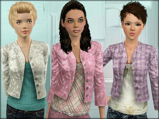 Sims 3 jacket, clothing, top, skirt