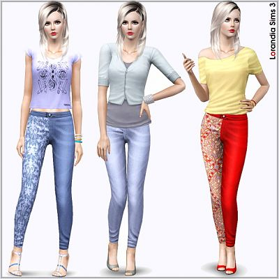 Sims 3 jeans, outfit, clothing, fashion, female
