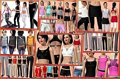 Sims 3 sport, athletic, clothes, shoes, sneakers, watches