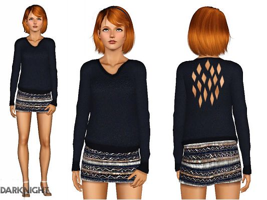 Sims 3 top, outfit, clothing, fashion, female