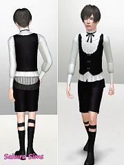 Sims 3 cloth, clothing, outfit, gothic