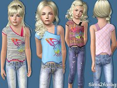 Sims 3 outfit, clothing, fashion, female, child