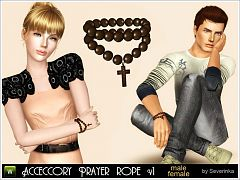Sims 3 rope, prayer, beads, accessories, cross