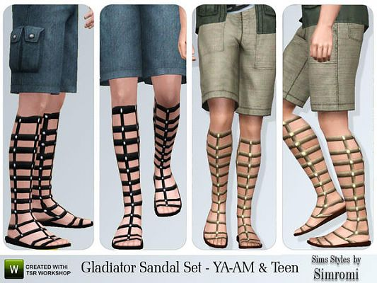 Sims 3 sandals, males