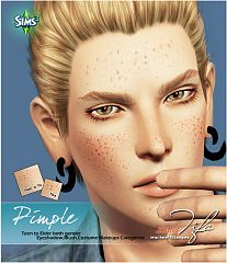 Sims 3 pimple, makeup, sims3