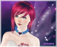 Sims 3 necklace, accessory, jewelry, pearl