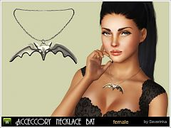Sims 3 necklace, accessory, jewelry, bat