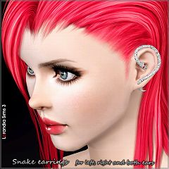 Sims 3 snake, earrings, jewelry, accessory