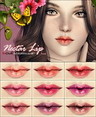 Sims 3 lipstick, lips, makeup, female