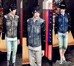 Sims 3 outfit, clothing, male, jacket