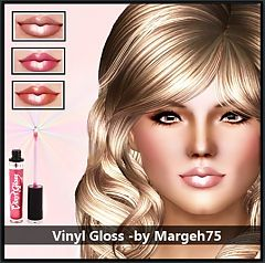 Sims 3 lips, lipgloss, gloss, makeup, female