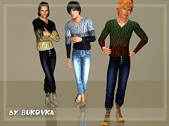 Sims 3 jeans, outfit, clothing, male
