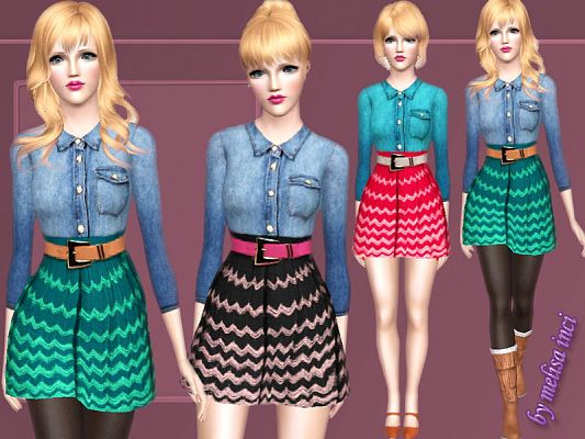 Sims 3 top, shirt, outfit, clothing, female
