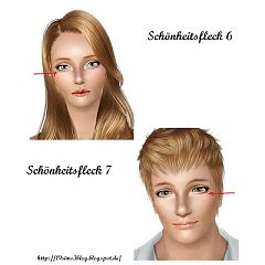 Sims 3 beauty, marks, spot, makeup