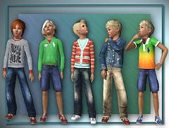 Sims 3 boy, clothes, fashion, top, bottom, jeans