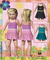 Sims 3 toddler, outfit, dress