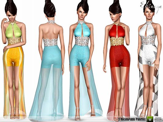 Sims 3 dress, outfit, clothing, female, fashion