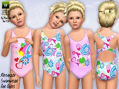 Sims 3 swim, swimwear, fashion, clothing, female, children
