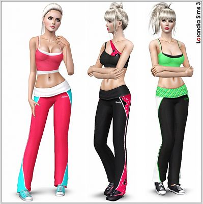 Sims 3 athletic, outfit, pants, clothing, female