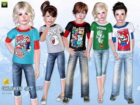 Sims 3 outerwear, outfit, clothing, children