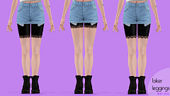 Sims 3 leggings, tights, sims3