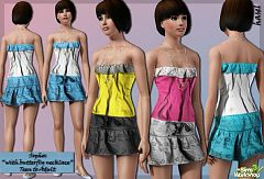 Sims 3 dress, necklace, clothing, female