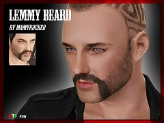 Sims 3 beard, genetics, facial hair, male